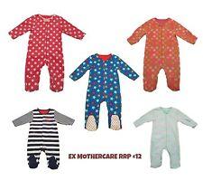 Baby Boy Girl Fleece Sleepsuit Onezie Babygrow All In One Ex MOTHER/CARE