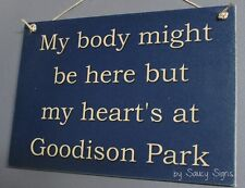 Body Goodison Park Everton EPL English Football Soccer Wooden Wall Bar Pub Sign