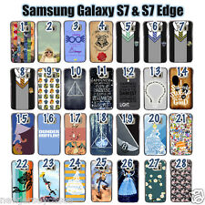 Samsung Galaxy S7 & S7Edge Plastic Phone Case Choose from 56 Designs!