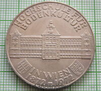 AUSTRIA 1972 50 SCHILLING, 100th ANNIVERSARY INSTITUTE OF AGRICULTURE SILVER UNC