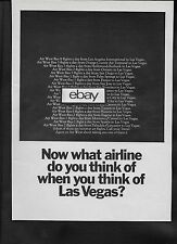 AIR WEST 1969 NOW WHAT AIRLINE DO YOU THINK OF WHEN YOU THINK LAS VEGAS AD