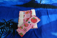 Handmade Infant Seatbelt Cover reversible (Strawberry Pink), Baby Neck Protector