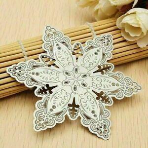 Christmas Snowflake Metal Cutting Dies Stencil Scrapbooking Embossing DIY Craft