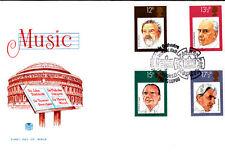 1980 conduttori britannico SET COMPLETO SPECIALE TIMBRO ROYAL Orchestra Filarmonica