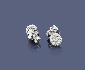 Ohrringe Ohrstecker Diamanten 14 Karat Weißgold  0,40 ct. Weiße Brillanten Neu