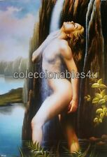 POSTER painting print gothic nude women  11x16