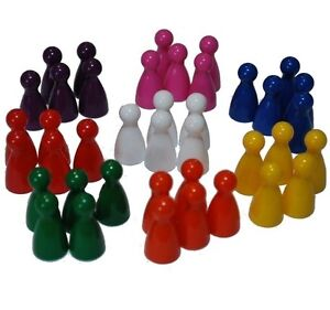 Mixed Colour Halma Pawns, Playing Pieces,  x40 ( 8 sets of 5)