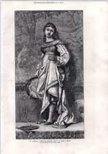 1872 La Regina Avenetian Dancing Girl By Elihu Vedder