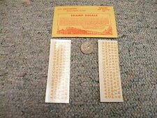 """Champ decals HO Alphabet Numbers L-71  Bold Gothic dulux gold  5/32""""  H66"""