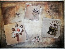 Carta di riso per Decoupage Scrapbook Craft sheet LETTERE Fiore 143