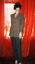 MAX MARA Jacket BOYFRIENDS BROWN  WOOL BLENDS Lined SIZE10 ! MADE IN ITALY !