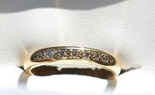 18ct Yellow Gold & 7 Diamond Wedding Band