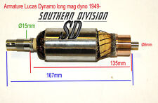 LUCAS E3LM Dynamo armature Mag Dyno 60W 200754 UK made BSA Ariel Norton Enfield