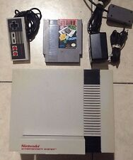 Nintendo NES System Console w Casino Kid, Controller Bundle Tested
