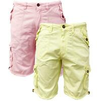 Brave Soul Mens Spence Cotton Twill Combat Cargo Shorts