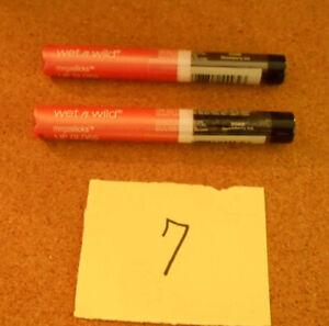 Wet n Wild Lot of 2 Megaslicks Lip Gloss 558B Strawberry Ice New Y7