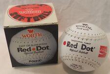 Worth Red Dot Softball White Poly X Solid Core Coca Cola Coke