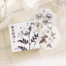 45 PCs/lot Stationery Diary Label Sticker Sticky Paper Plants Flowers