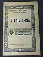 Moda Calzature - Biblioteca del Popolo - La Calzoleria - ed. 1920 ca. Sonzogno