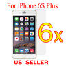 """6x Clear LCD Screen Protector Guard Cover Film For Apple iPhone 6s Plus 5.5"""""""