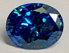 Beautiful Vibrant Blue Oval Cut Cubic Zirconia (CZ) 10x8mm Loose Stone