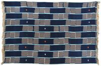 hand woven vintage cloth textile Ivory Coast Baule African Art home decoration