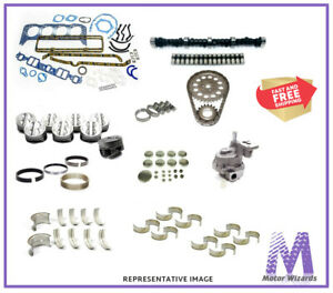 CHEVY 250 6 cylinder (62-70) MASTER ENGINE REBUILD KIT CAMSHAFT PISTON