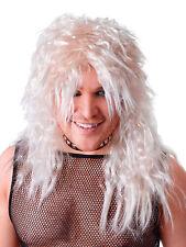 DEGLI ANNI OTTANTA'80 BIONDA Rocker retrò Parrucca Heavy Metal SLASH KISS FANCY DRESS ACCESSORIO