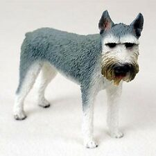 Giant Schnauzer Grey Dog Hand Painted Figurine Resin Statue Collectible Puppy