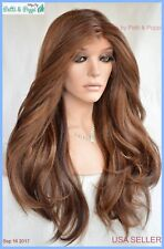 Swiss Lace Front Wig 4X4 Silk Top Handtied Heat Safe P4.27.30 Long Thick 1255