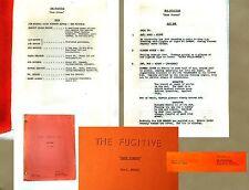 "Vintage ABC TV ""THE FUGITIVE"" 1964 Original First draft Script ""DARK CORNER"" 6/8"