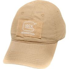 GLOCK AGENCY HAT - KHAKI - TEAM LOGO PATCH CAP - TACTICAL POLICE WEAR - AP70240
