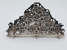wunderschöner Serviettenhalter Vogel Dekor Silber 833 punziert Niederlande ~1930
