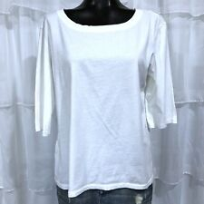 One Size OS - NWOT MICHAEL STARS White Elbow Sleeve Tee T-Shirt Style 8650