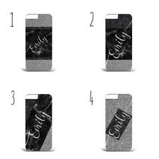 Black Marble personalised phone case cover gift her/ him PLASTIC  Cover Case A58