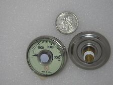 (5) Pressure Gauges 0-3000Psi for Oxygen Tank, Pressure washer Glows in the dark