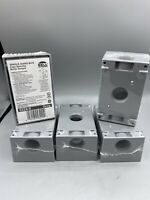 Hubbell-Bell 5324-0 Single Gang 3-3//4-Inch Outlets Weatherproof Box New Sealed