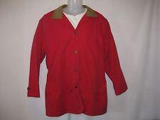 Woolrich Women's Sz M Santa Fe Red Southwest Indian Lined Field Barn Coat Jacket