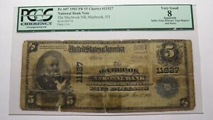 $5 1902 Maybrook New York NY National Currency Bank Note Bill! #11927 PCGS
