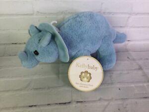 Kellytoy Kelly Baby Blue Triceratops Dinosaur Dino Plush Stuffed Animal Toy
