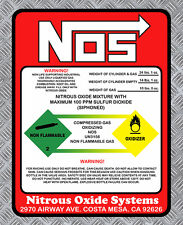 NITROUS OXIDE NOS OXYDE DRIFT TURBO JDM AUTOCOLLANT STICKER 145mmX110mm  (NA043)