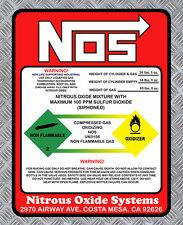 NITROUS OXIDE NOS OXYDE DRIFT TURBO JDM AUTOCOLLANT STICKER 8cmX6cm  (NA043)