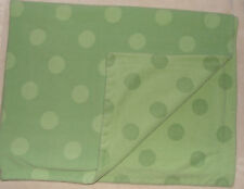 Amy Coe Reversible Baby Blanket Green Polka Dots Micro Fleece