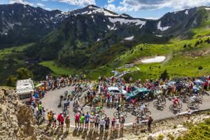 Tour De France Cycling Poster Print a (CHOOSE SIZE - A5/A4/A3/A2/A1)