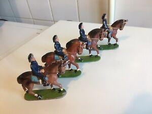 Lot de (4) Cavaliers « Chasseurs Alpins» Quiralu France