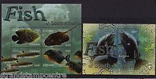 GUYANA - 2005 poissons-U/M-SG MS6496a + MS6497c