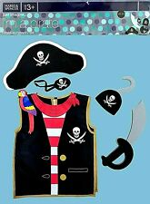 Kids M&S 5 Piece Pirate Dressing Up Outfit Costume Fancy Dress World Book Day