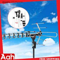 180 Miles Outdoor Amplified HD TV 1080P Antenna Long Range 38dB 360° Rotator