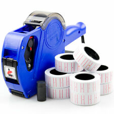 Tagging Tag Gun Price Pricing + 11 Label Rolls Stickers Spare Ink Retail Shop