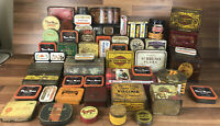 Huge Large Bundle Of Vintage Advertising Tins Biscuits/tobacco/sweets Etc